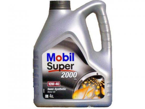 Масло моторное MOBIL 2000 10W-40 п/синтетическое 4л